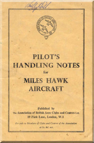 Miles Hawk  Aircraft   Pilot Notes Manual