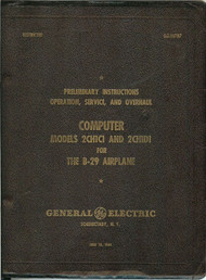 Boeing B-29  Aircraft Computer Fire Control Manual