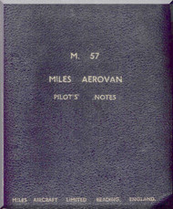 Miles  Aerovan M.57 Aircraft  Pilot's Notes Manual