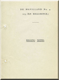Airco De Havilland DH-4 Aircraft Rigging Notes Manual