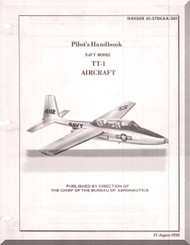 TEMCO TT-1  Pinto Aircraft Flight   Manual 01-270KAA-501 - 1958