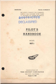 Timm Aircraft N2T Tutor  Pilot Handbook Flight Manual  - 1943