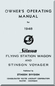 Stinson Model 108  Aircraft Operating Manual - 1948
