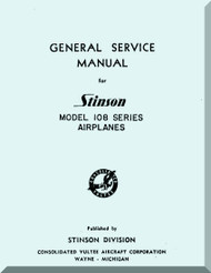 Stinson Model 108  Aircraft General Service Manual - 1948