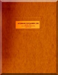 Stinson Model 108 -1   Aircraft CAA Operating  Limitations Manual , 1947