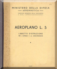 Stinson  L-5 , Aircraft Pilot's Instruction  Manual , Libretto di Istruzione ( Italian Language ) , 1949