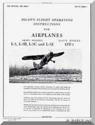 Stinson  L-5 , B, C , E and OY-1 Aircraft Pilot's Flight Operating  Manual , AN 01-500B-1,   1945