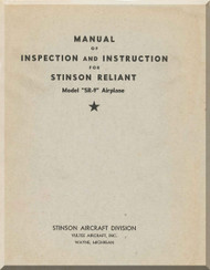 Stinson  SR-9 Reliant Aircraft Inspection Instruction  Manual - 1944