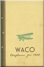 WACO  Airplane  Aircraft 1932 Brochure & Price List  Manual
