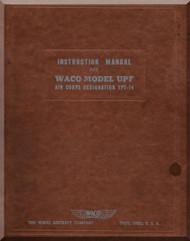 WACO Model UPF Air Corps Designation YPT-14 Instruction  Manual