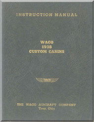 WACO  Custom Cabins Aircraft Instruction Manual - 1938