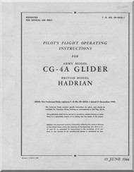WACO  CG-4A Glider Hadrian  Aircraft  Pilot's Operating Instructions Manual