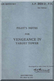 Vultee Vengeance IV  Aircraft Pilot Manual AP 2024D PN