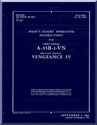 Vultee  A-35B-1-VN  Aircraft Pilot's  Flight Operating insruction  Manual - AM 01-50E-1 - 1943