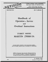 Martin 250SH-3A Gun Turrets Aircraft Manual