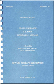 Howard GH-1 Aircraft Flight Manual - Report. 150 - 1944