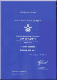 GAF Nomand N22 Mk.1 Aircraft Flight Manual - AAP 7211.016-1 - 1988