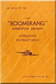 Commonwealth  Boomerang Aircraft  Operating Instructions Manual