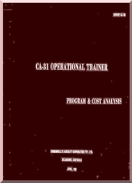 Commonwealth  CA-31  Aircraft  Operational Trainer / Program & Cost Analysis  Manual -  ER AA-156 - 1967