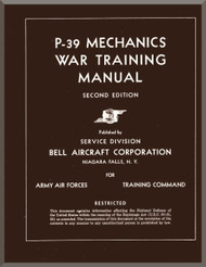 Bell P-39  Aircraft Mechanical War Training Manual, 1943