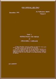 Bell P-39 D Aircraft Instruction for Repair  Aircobra I  Part -3 Manual - Air Publication 2064A -  1941