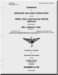 Bell YFM-1A  Aircraft Handbook of Instructions - Operation and Flight instructions