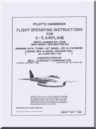 Bell X-5 Aircraft Pilot's Handbook Flight Operating Instructions Flight Manua