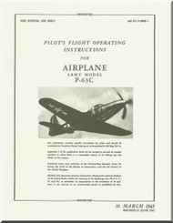 Bell P-63 C Aircraft Flight Manual - 01-110PQ-1 - 1945