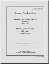 Aircraft Tail Turret  System AERO 21B   IPC Manual NAVAER 11-45-531