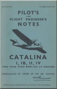 Consolidated Catalina  Aircraft Pilot's Notes Manual