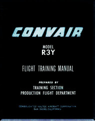Convair R3Y Aircraft Flight Training Manual - 1951