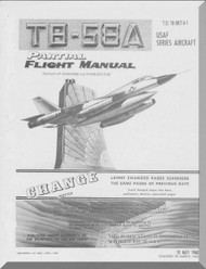 Convair TB-58 A Aircraft Flight Manual  1B-58T-1 - 1968