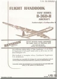 Convair B-36 D Aircraft Flight Handbook Manual -  T.O. 1B-36D(II)-1, 1955