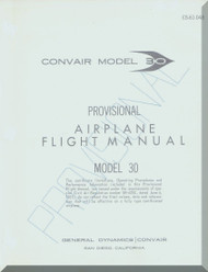 Convair 990 30  Provisional Flight Manual -  CS-61-048