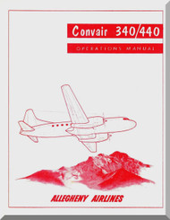 Convair 340 440 Flight  Manual  , Allegheny Airlines  1986