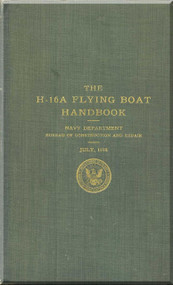 Curtiss H-16 A Flight Boat Aircraft Manual Handbook - 1918