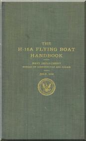 Curtiss H-16 A Flight Boat Aircraft Manual Handbook - 1918