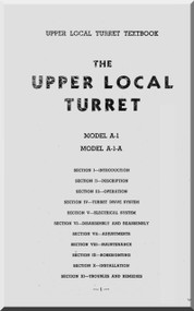 Upper Local Ball  Turrets  Type A-1, ... A-1-1  Hamdbook Manual