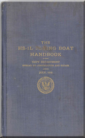 Curtiss HS-1L Flying Boat  Aircraft Handbook Manual  - 1918