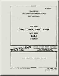 Curtiss C-46 Aircraft Maintenance Manual 01-25LA-2 - 1945