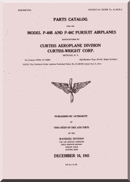 Curtiss P-40 B and C Pursuit Airplane Parts Catalog  -T.O 01-25CE-4 - 1943