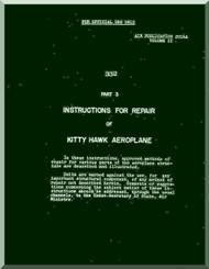 Curtiss P-40  Kitty Hawk I  Preliminary Repair Manual  -  A. P. 2014 A  - 1941-  Volume II