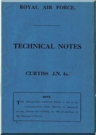Curtiss Wright Jenny JN-4 Aircraft Ringging Notes Manual - RAF