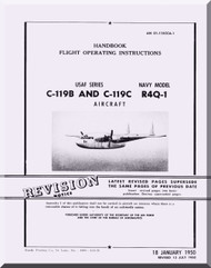 Fairchild C-119 B, C R4Q-1  ,  Handbook Flight Operating Instructions Manual TO  01-115CCA-1B-1 , 1950
