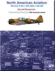 North American P-64 / NA-50A / NA-68  Airplane Aircraft  Engineering Drawings Blueprints -  DVD