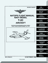 North American Aviation T-2C   Aircraft Flight Manual - NAVAIR 01- 60GAB-1,  1996