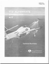 North American Aviation T-2   Aircraft Alternative Stability Kit Manual - 1977