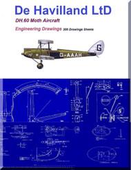 De Havilland DH.60 Moth Aircraft Blueprints Engineering Drawings - Download