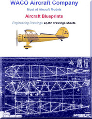 WACO Aircraft Company  Blueprints  Engineering Drawings Collection  2 DVDs