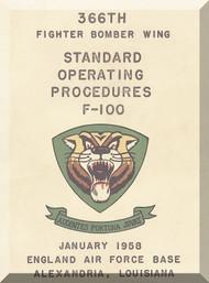 North American Aviation F-100 D  Aircraft Standard Operating Procedures  Manual , 1958